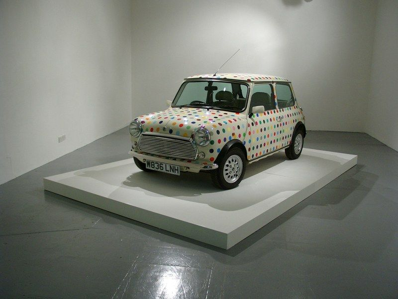 Damien Hirst's polka-dot Mini Cooper. Courtesy of Venus Over Manhattan.