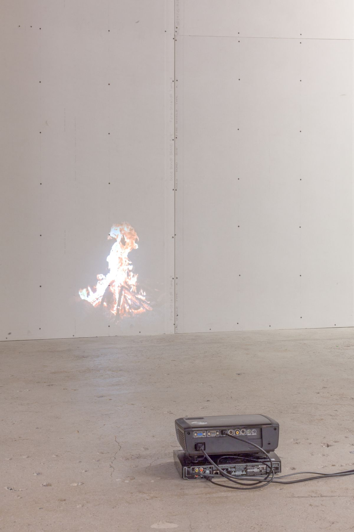 Peter Coffin Untitled (Slow Motion Campfire)