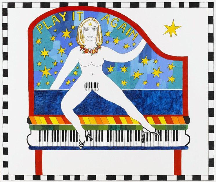 Dorothy Iannone,Play It Again(2007)