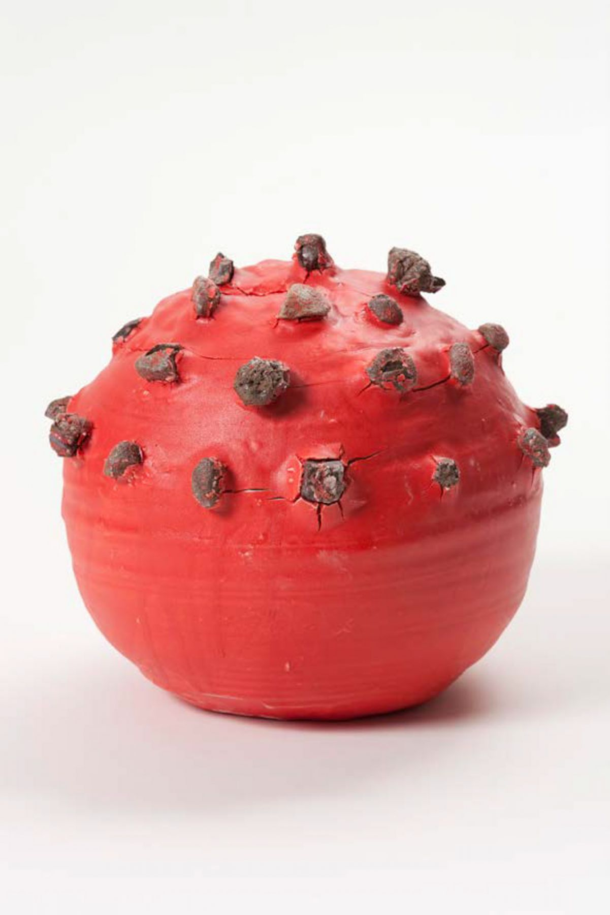 Takuro Kuwata Red-Slipped Stone-Burst Ball