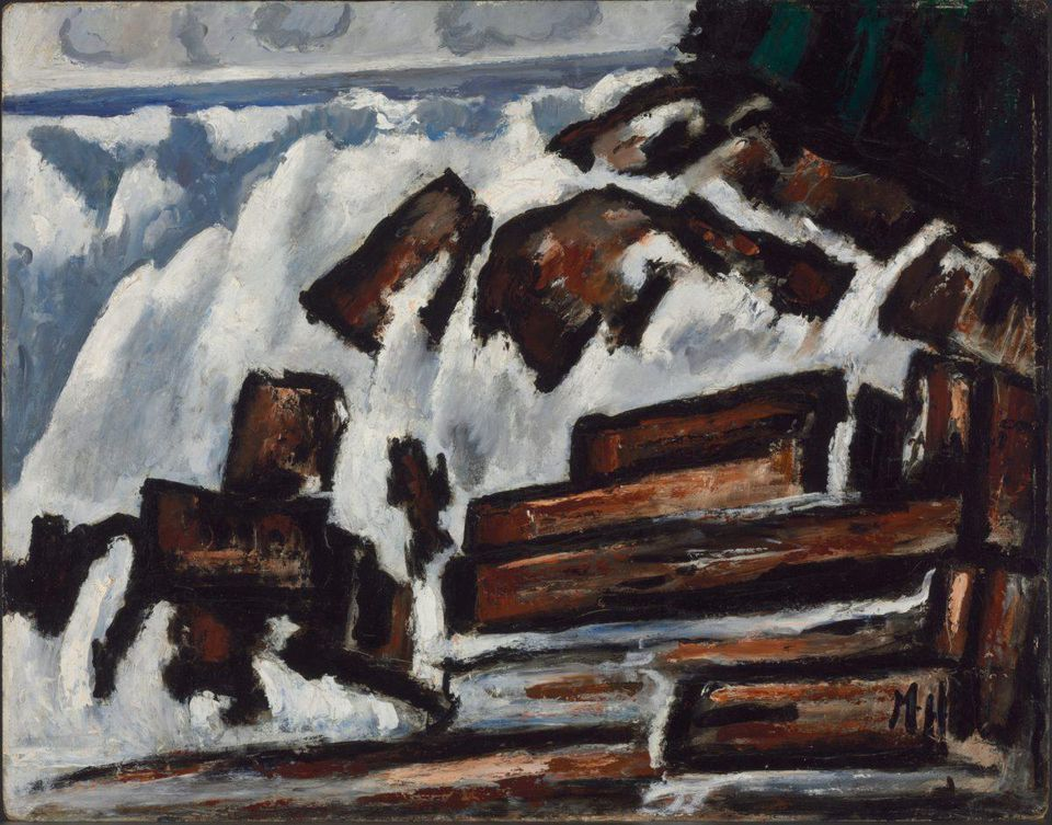 Marsden Hartley . Rising Wave, Indian Point, Georgetown, Maine. 1937-1938.,  THE BALTIMORE MUSEUM OF ART: EDWARD JOSEPH GALLAGHER III MEMORIAL COLLECTION, BMA 1958.41