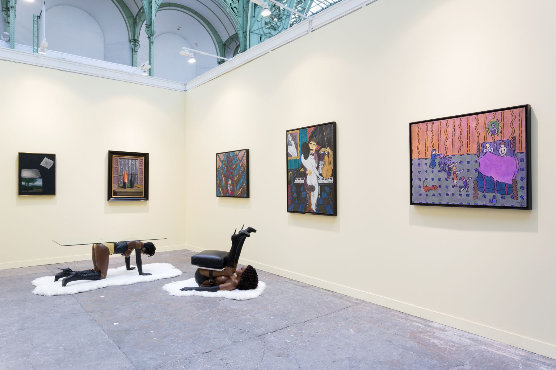 Installation view of William Copley and His Mentor, René Magritte, FIAC, Paris, 2016