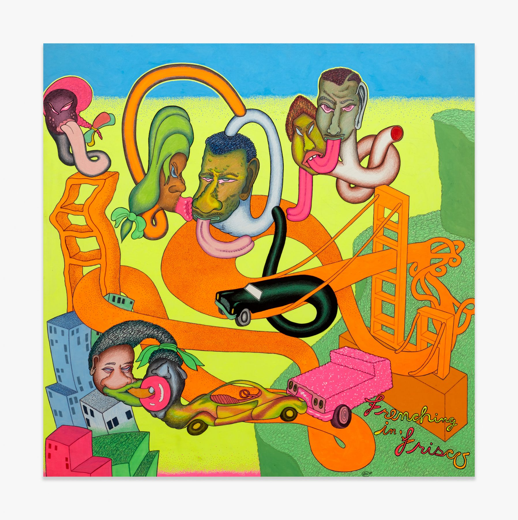 Peter Saul  Frenching in 'Frisco