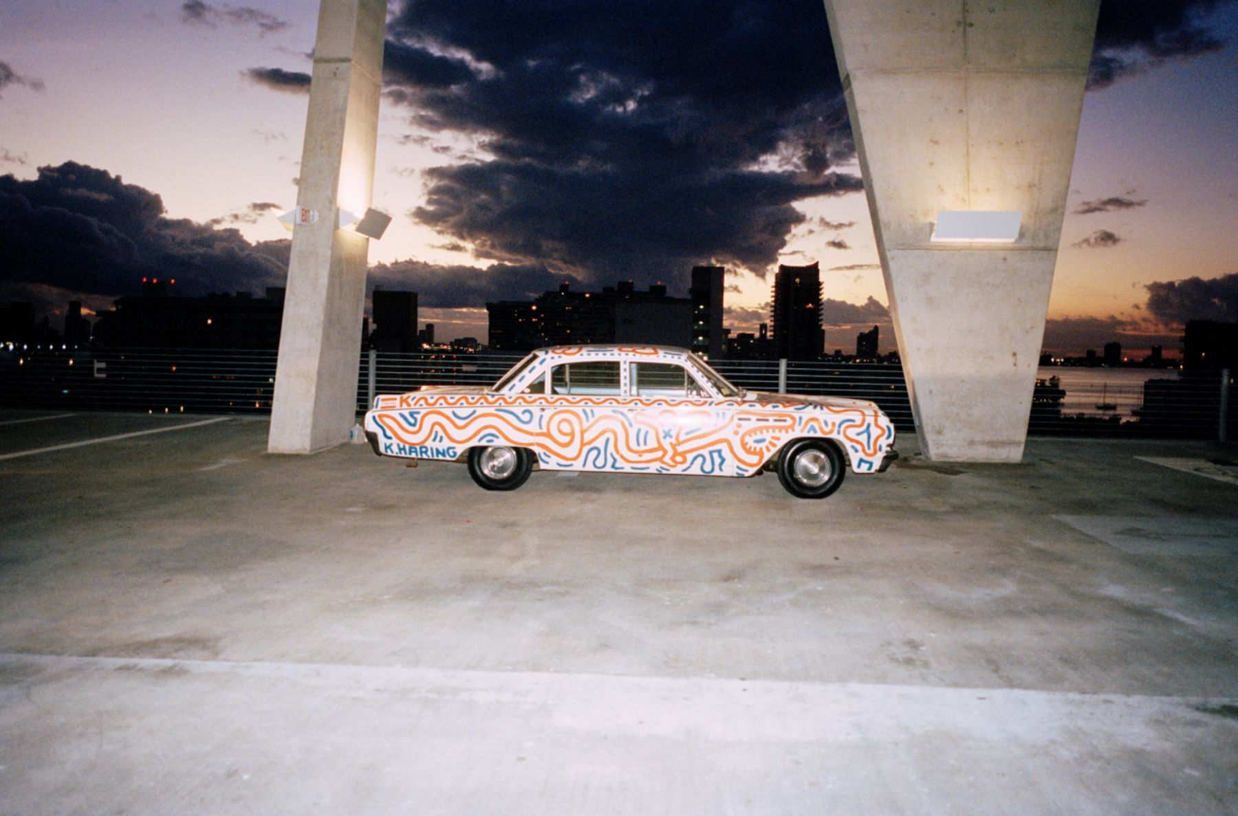 Piston Head Keith Haring Untitled (Car)