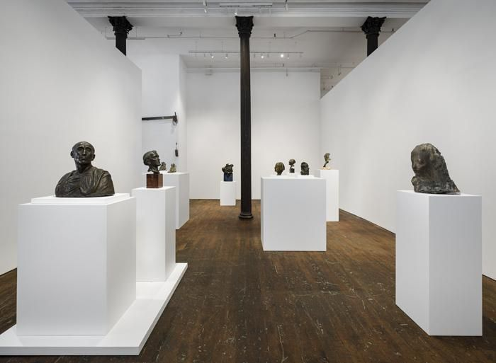 Medardo Rosso: Ten Bronzes – installation view 1