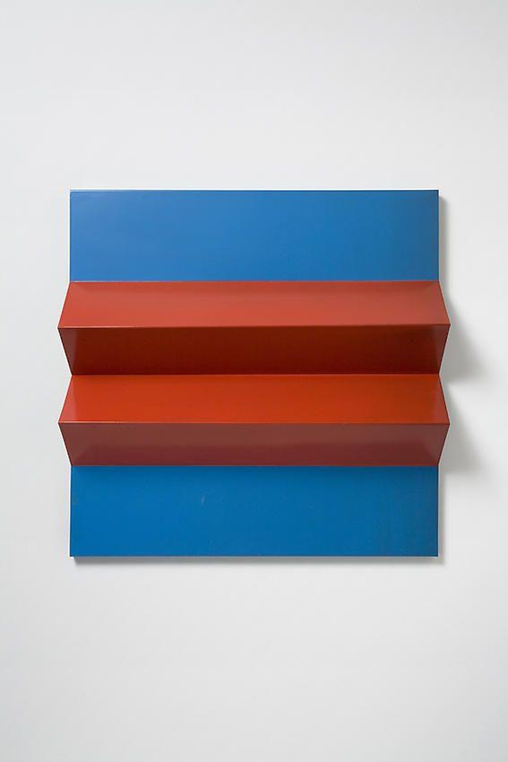 Charlotte Posenenske Faltung (Fold)[red and blue]
