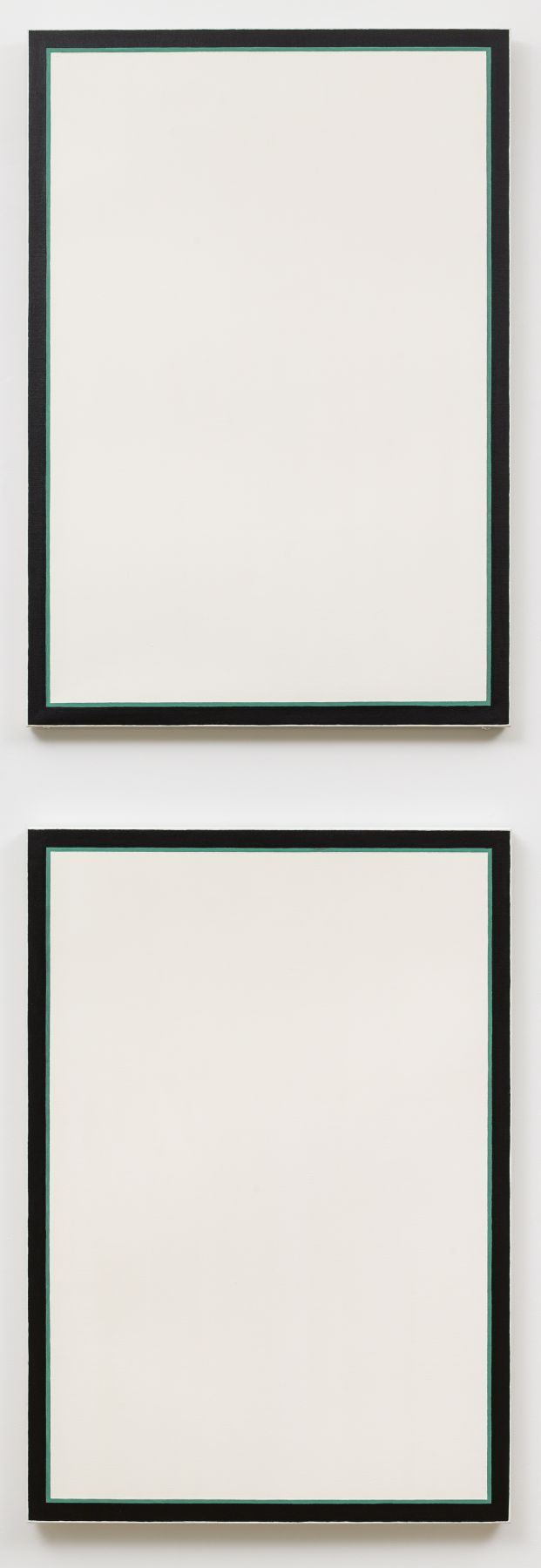 Jo Baer Untitled (Stacked Vertical Diptych - Green)