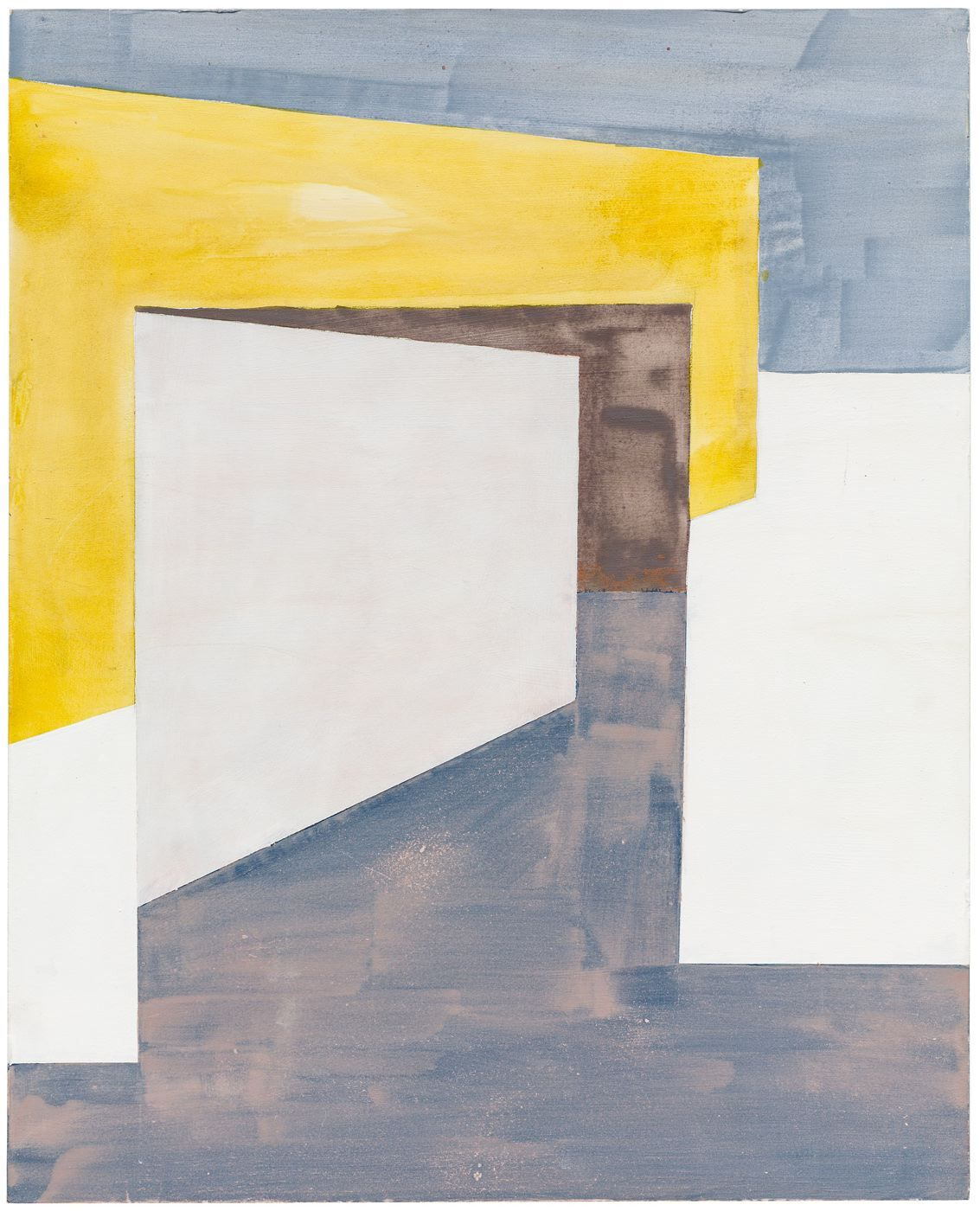 Composition with Yellow Wall