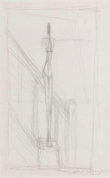 Alberto Giacometti, Homme debout sur une stele