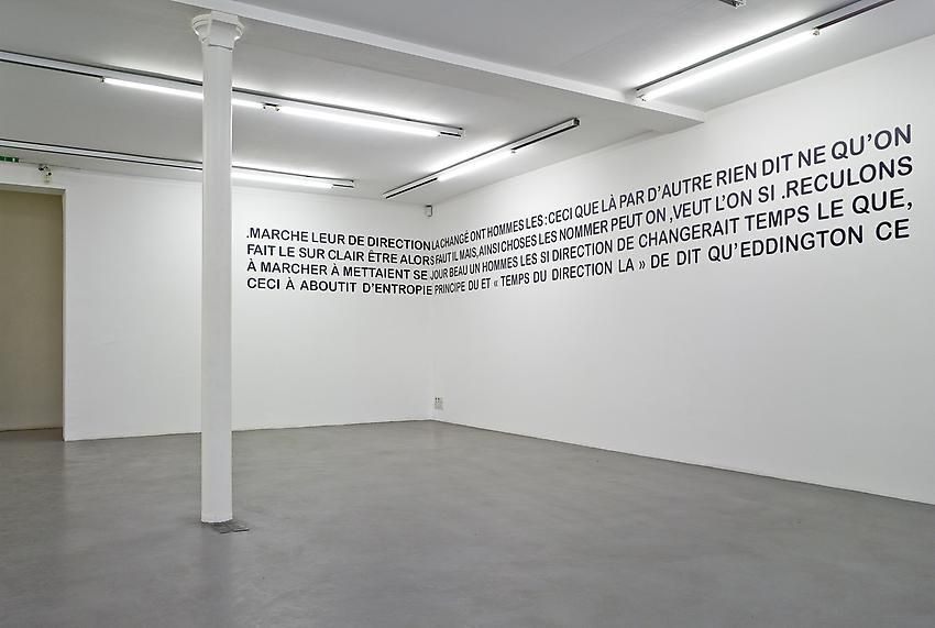 Mel Bochner, 1998-2007: Painting, sculpture and installation – installation view 10
