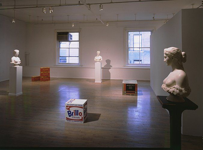 The Ideal Object: Hiram Powers (1848) and Andy Warhol (1964) – installation view 1