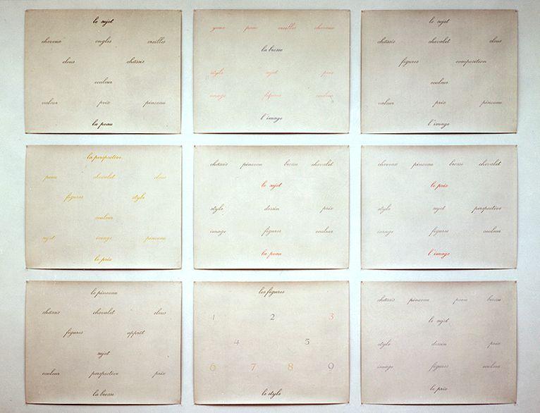 """Marcel Broodthaers Peintures (or """"L'art et les mots"""")"""