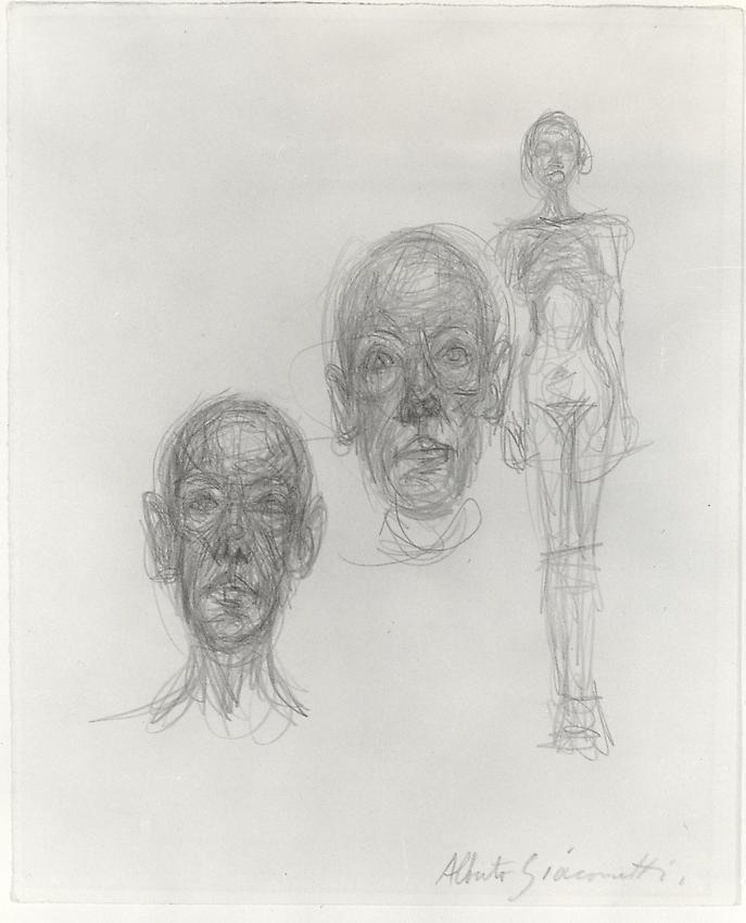Alberto Giacometti, Deux têtes (Diego) et nu (Annette)