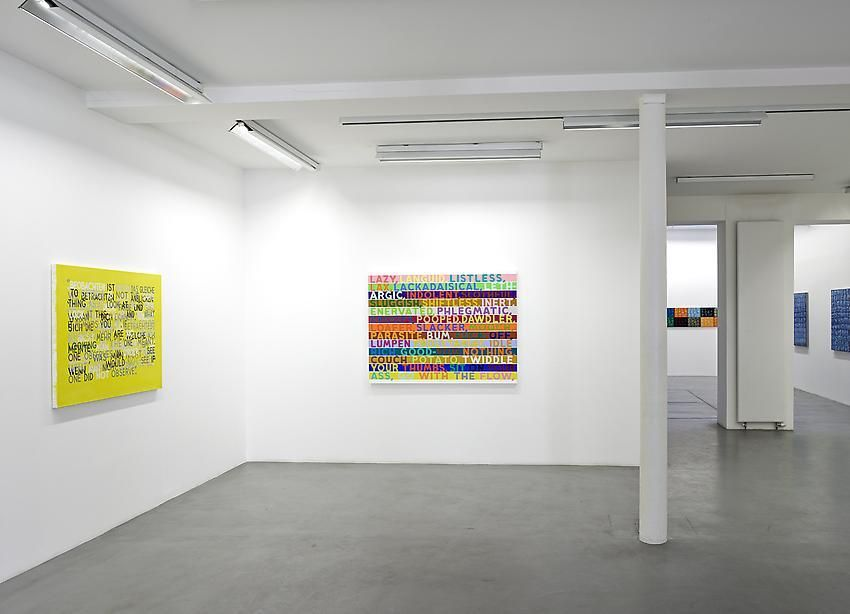 Mel Bochner, 1998-2007: Painting, sculpture and installation – installation view 2