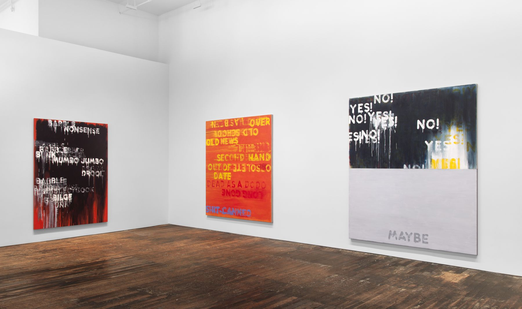 Mel Bochner: Voices – installation view 7