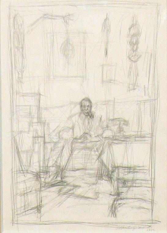 Alberto Giacometti, Portrait de Pierre Loeb