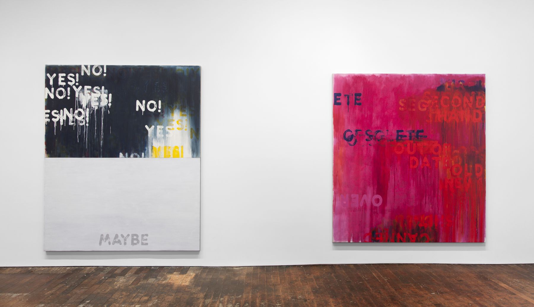 Mel Bochner: Voices – installation view 8