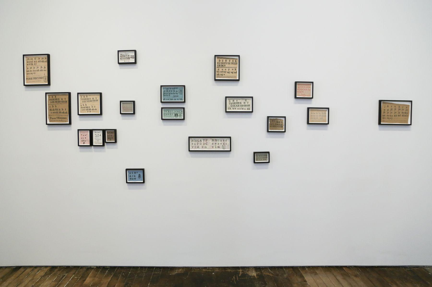 David Adamo / James Castle– installation view 7