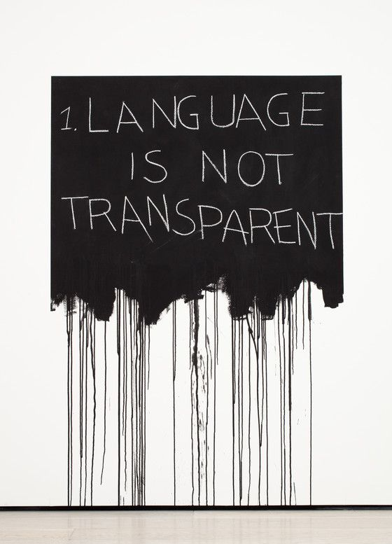 Language is Not Transparent, 1970