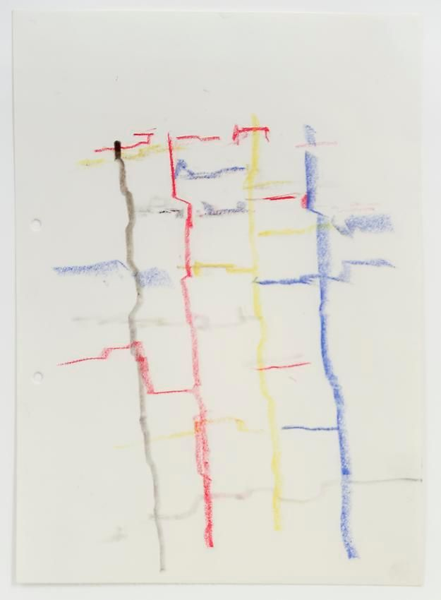 Charlotte Posenenske, Zeichnung (Landschaft) [Drawing (Landscape)]