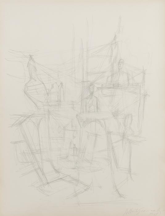 Alberto Giacometti, L'atelier avec sculptures