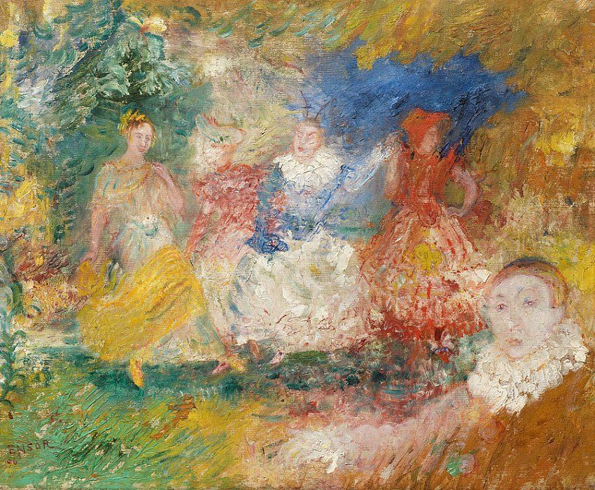 James Ensor Les Ballerines (La danse) (The Ballerinas (The Dance))
