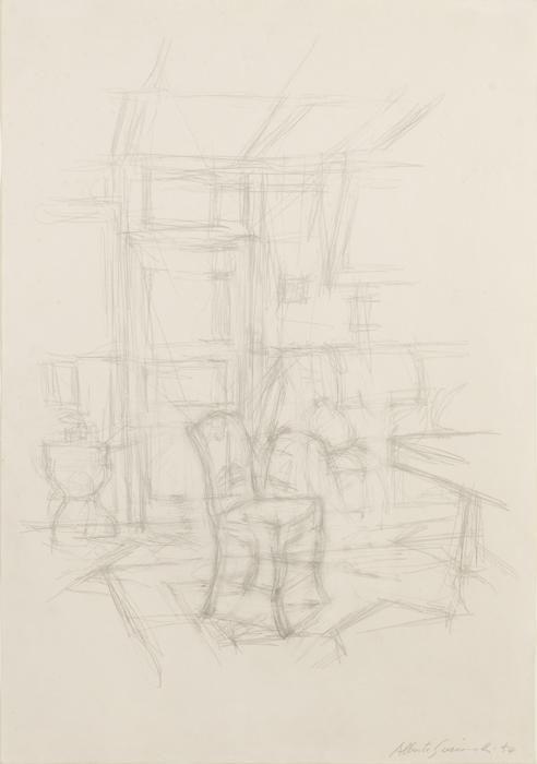 Alberto Giacometti, Intérieur avec chaise (Stampa)