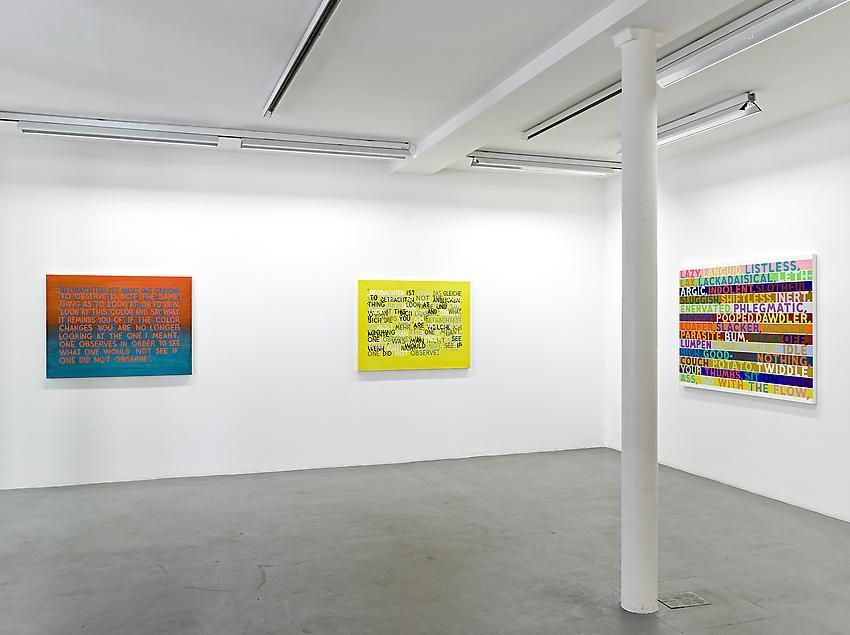 Mel Bochner, 1998-2007: Painting, sculpture and installation – installation view 5