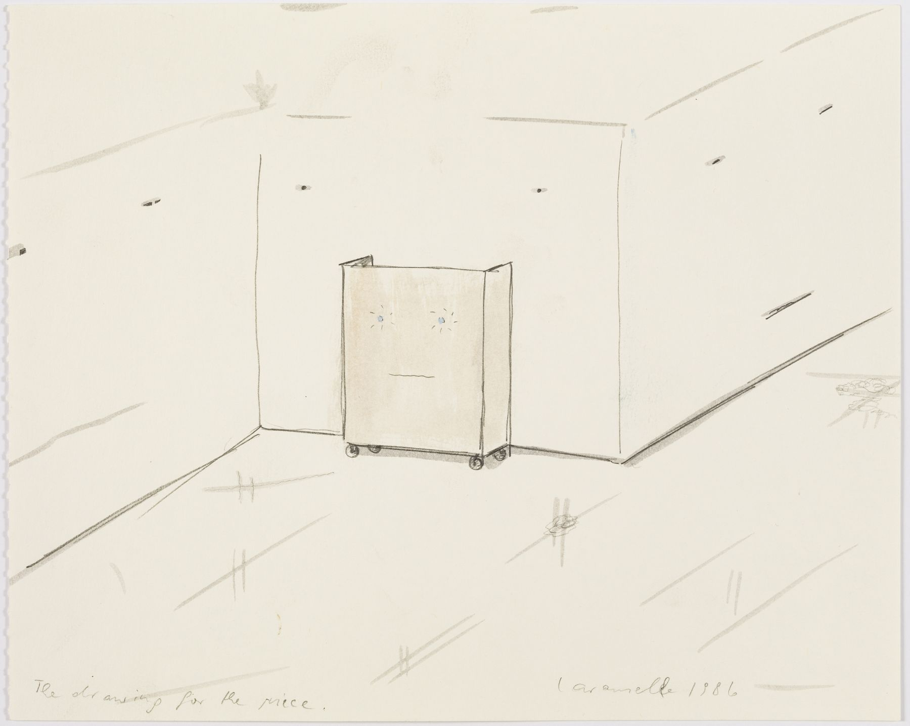 The drawing for the piece, 1986