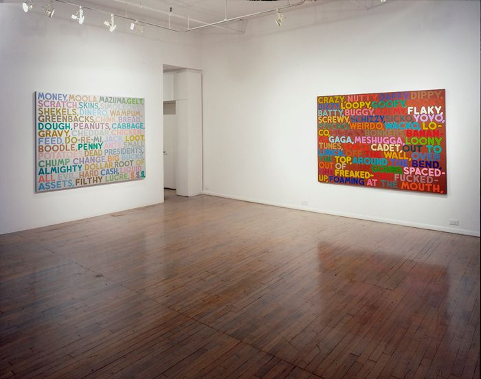 Mel Bochner: Thesaurus Paintings – installation view 1