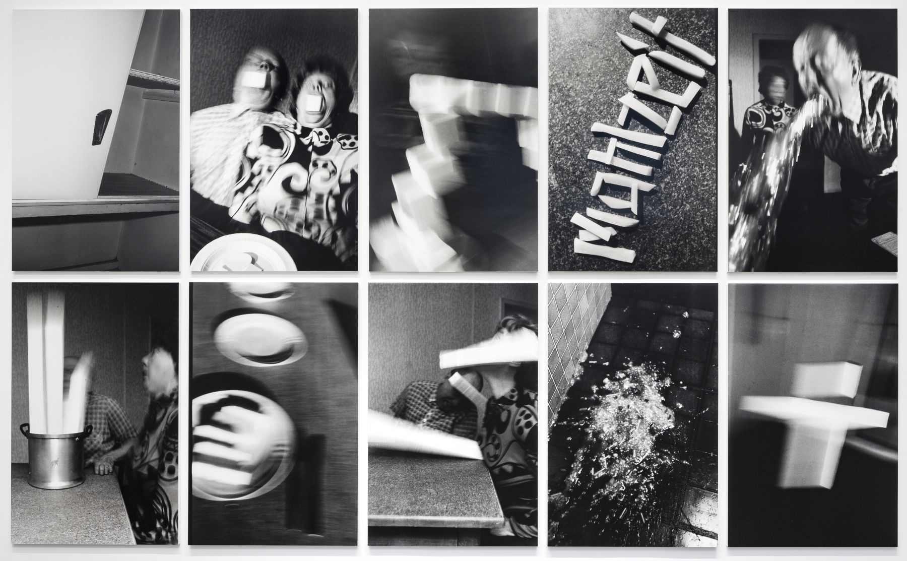 Mahlzeit 1989 10 vintage gelatin silver prints mounted on foam core and Plexiglas
