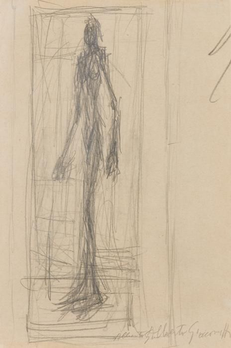 Alberto Giacometti, Nu debout dans l'atelier