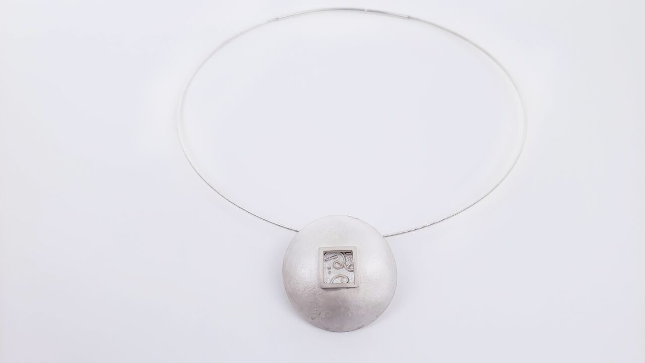 Ann Parkin, Pendant - Particle Tracks, Domed Window