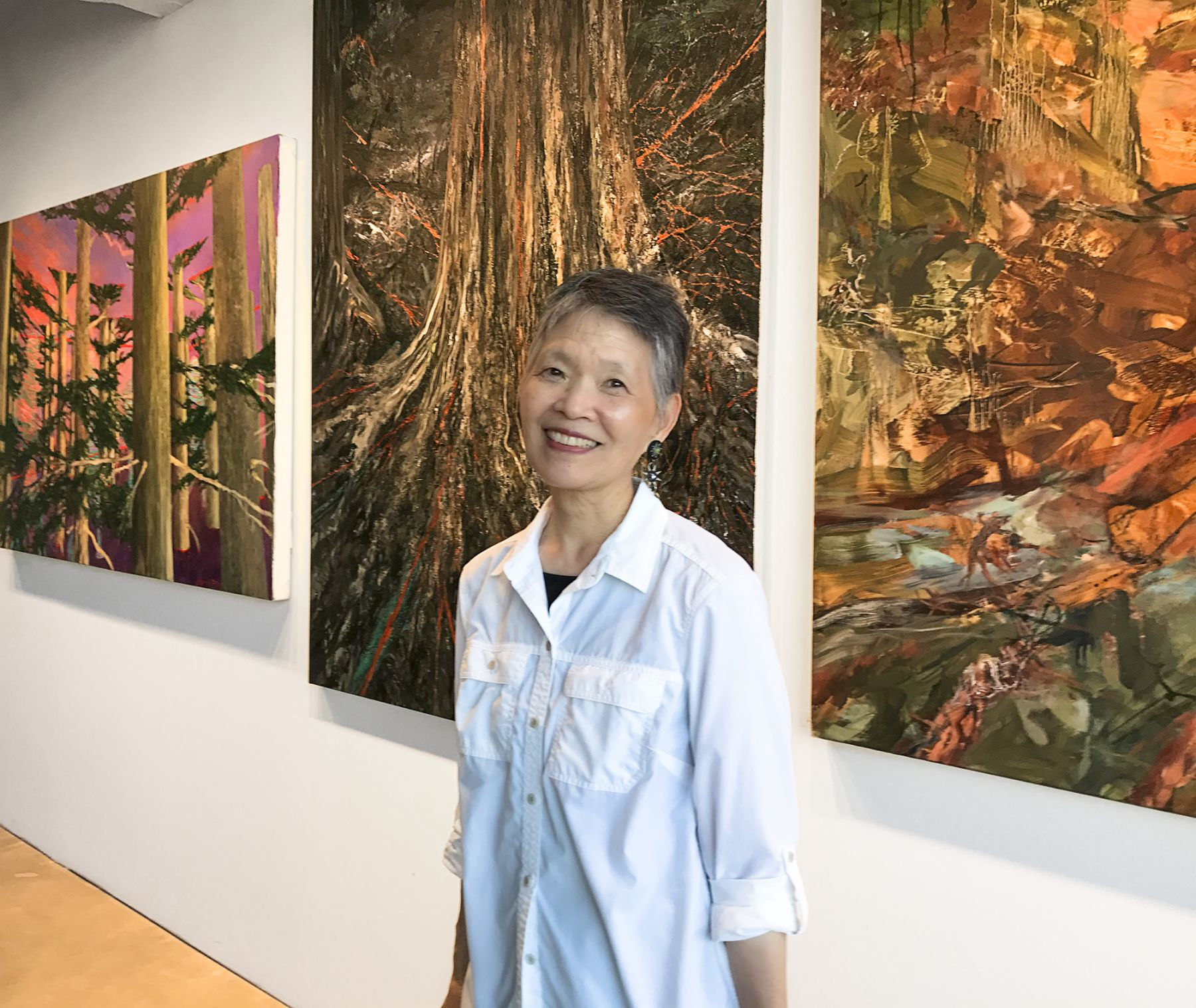 Joyce with works