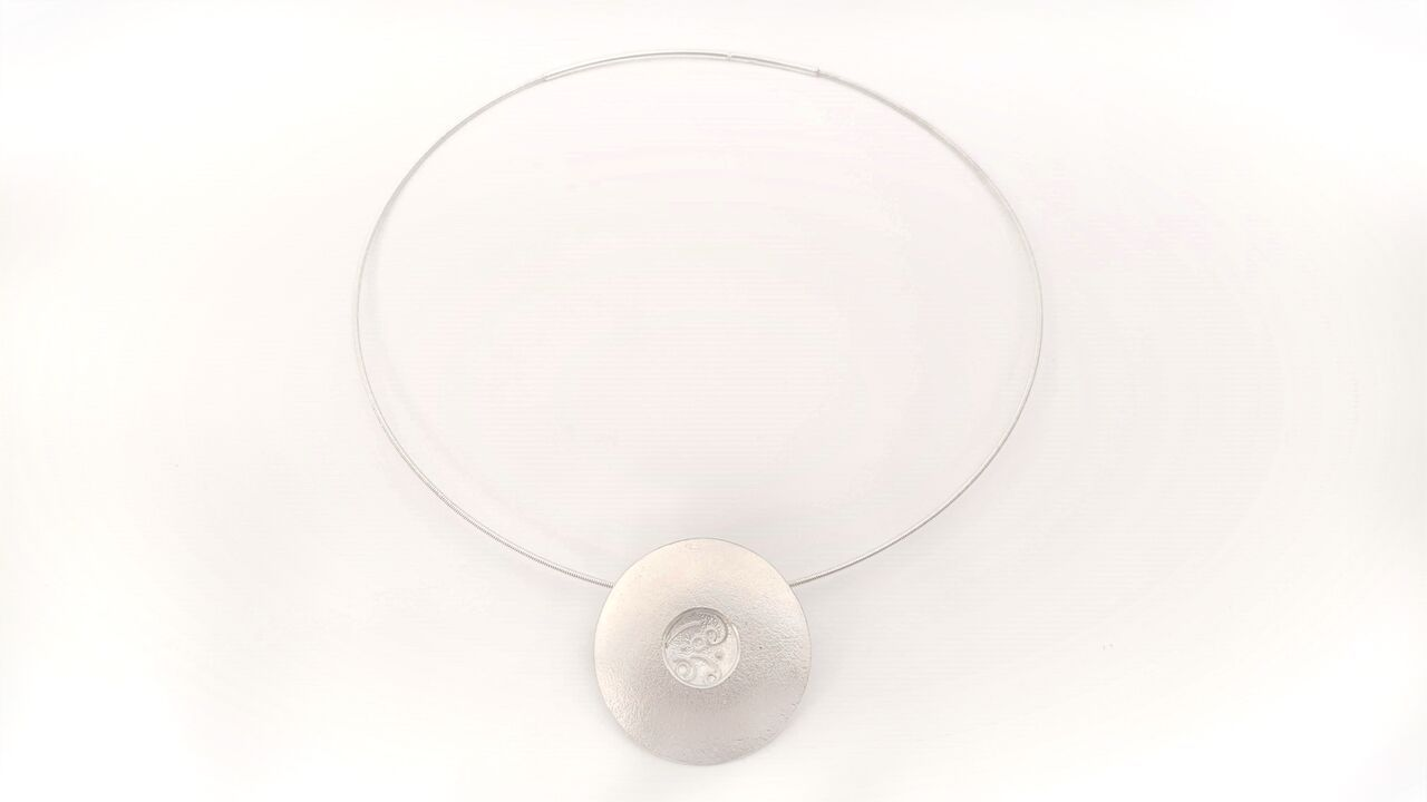 Pendant - Particle Shower, Round Window #1