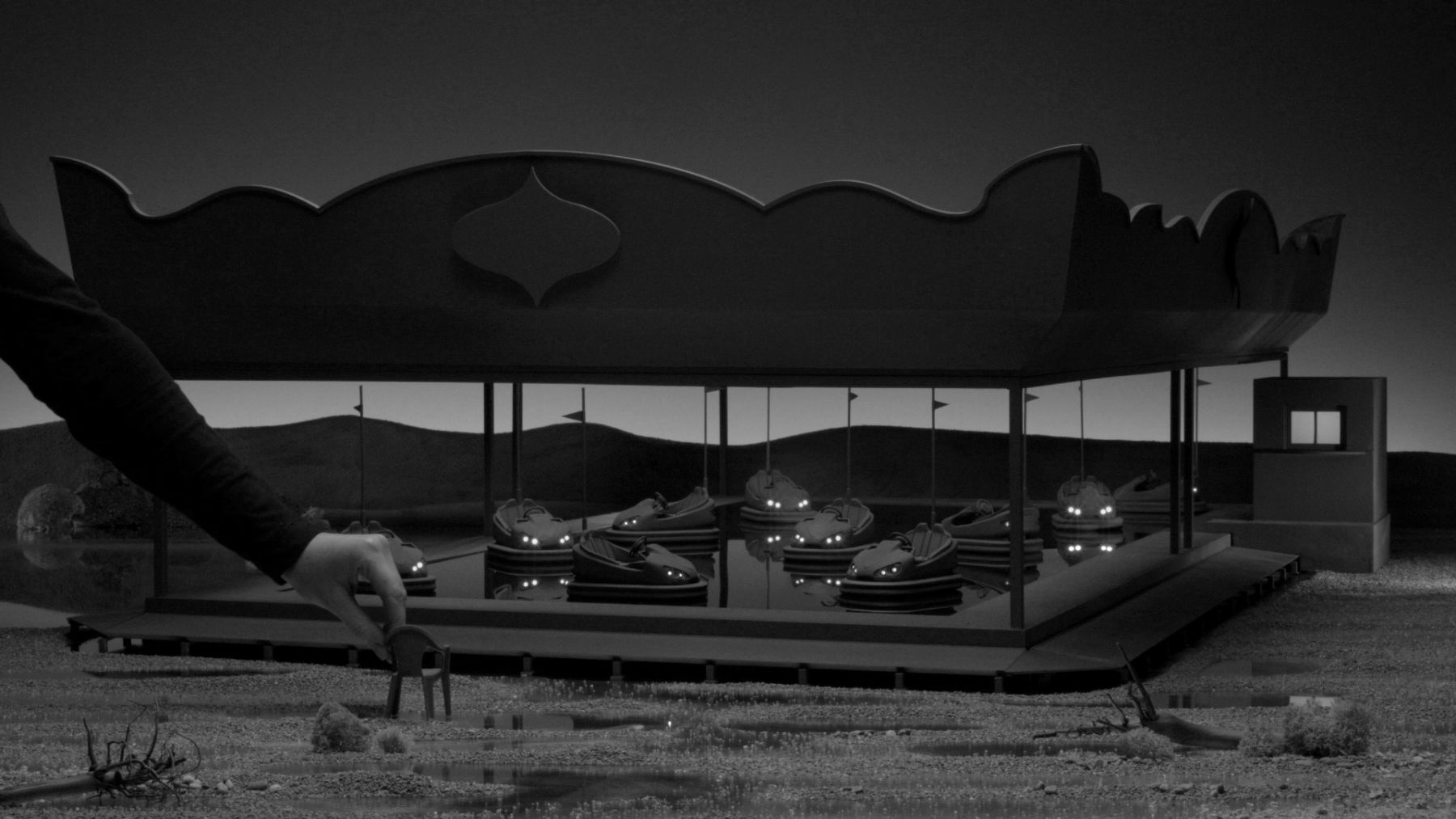 Staging Silence (3), 2019, Full HD video, black and white, sound