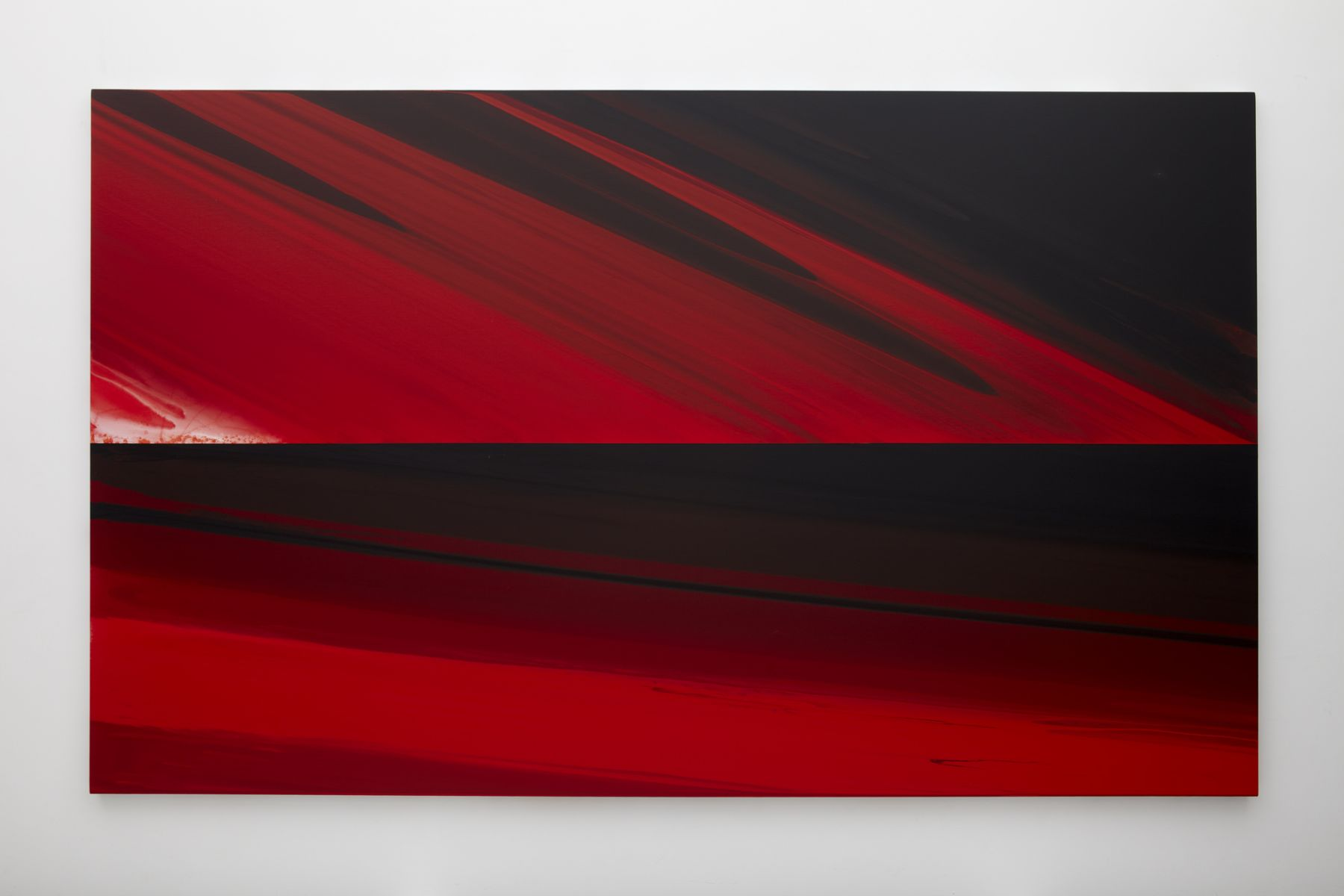 red gestural abstract painting by barnaby furnas available to buy