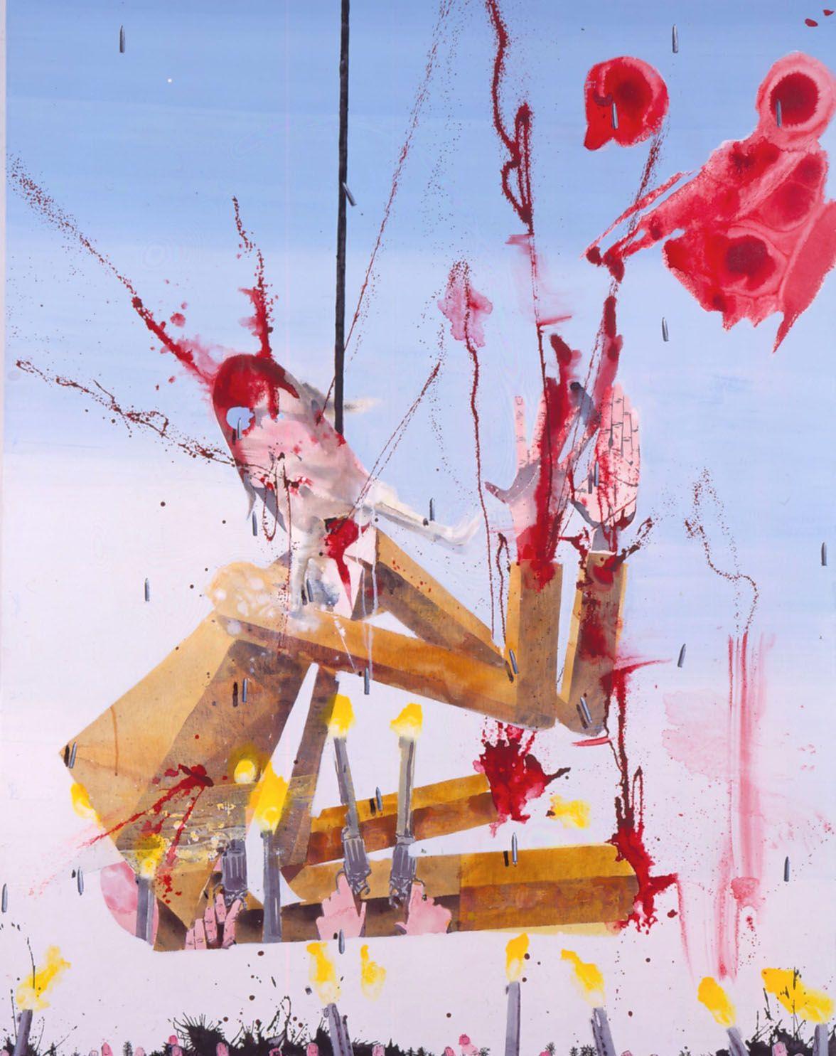 painting of executed figure by barnaby furnas