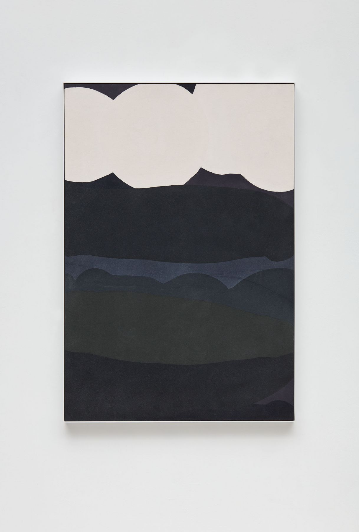 a layered abstract painting of dark colors by anthony pearson