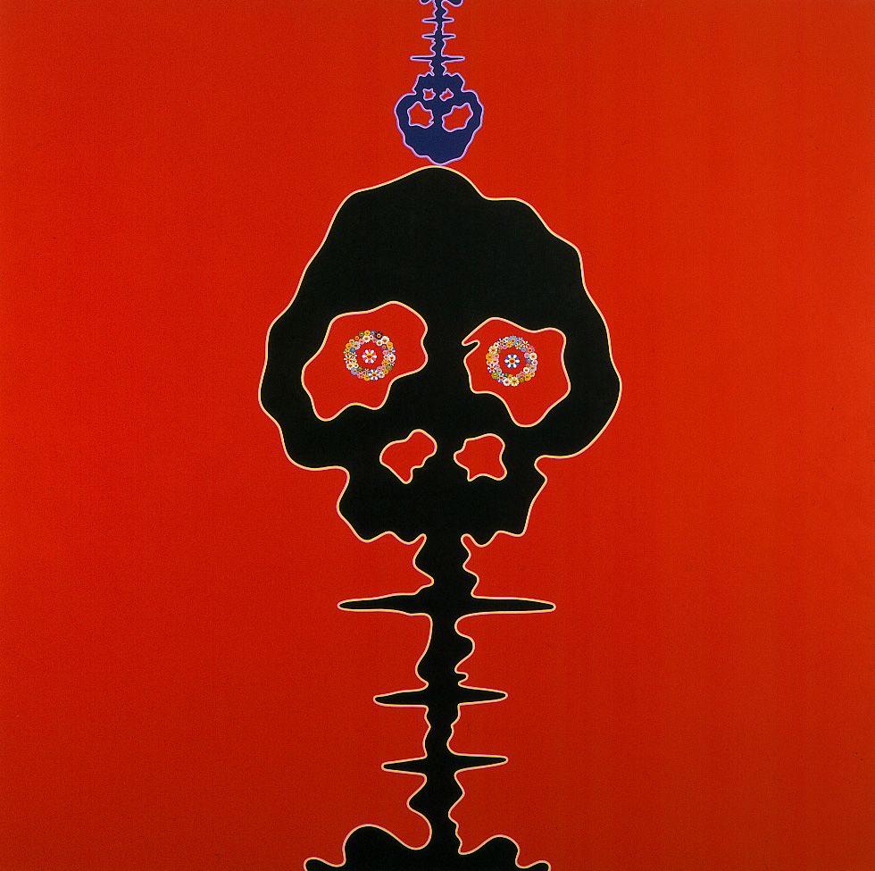 Mushroom Bomb, 2001, Acrylic on canvas mounted on wood