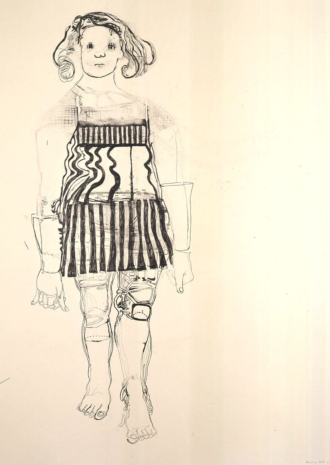 girl with striped clothing by hannah van bart