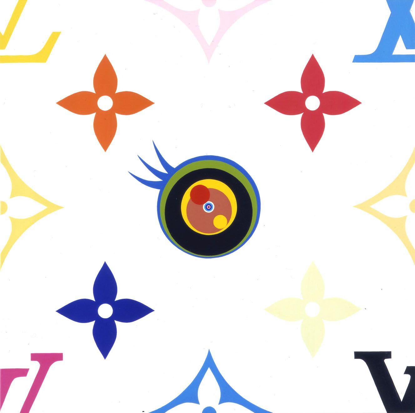 Eye Love SUPERFLAT, 2003, Acrylic on canvas mounted on wood