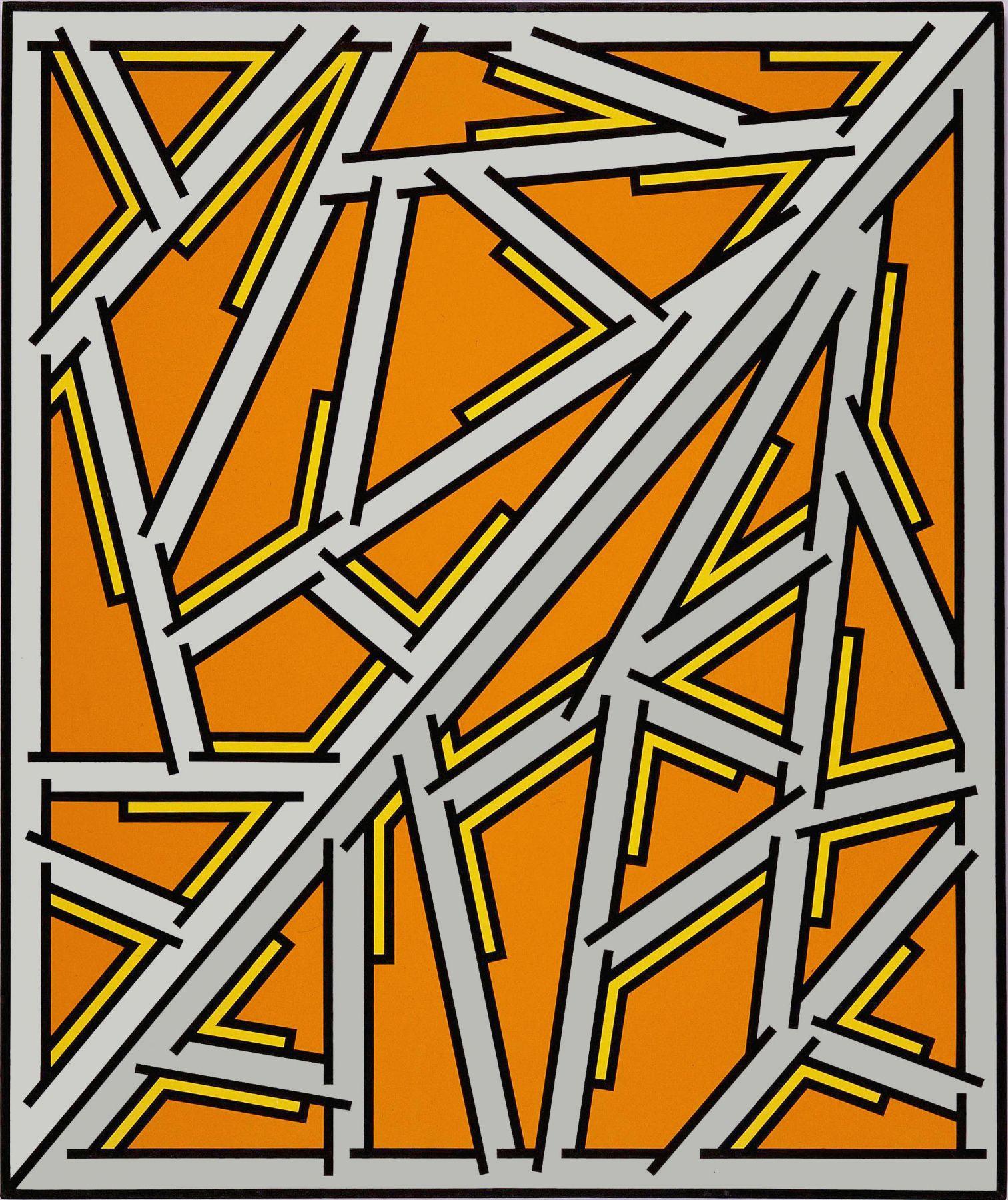 Untitled #14, 1977, Acrylic on linen