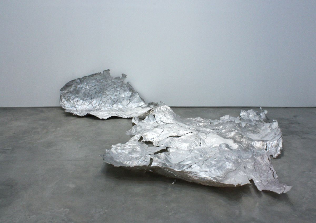 a contemporary abstract sculpture by jay heikes exhibited in a new york art gallery