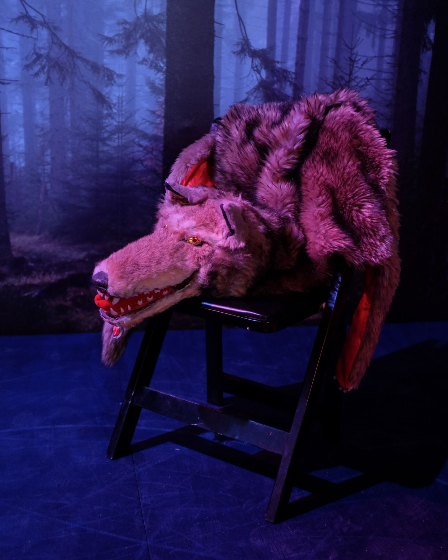 a wolf costume in a werewolf art film by sue de beer available for purchase