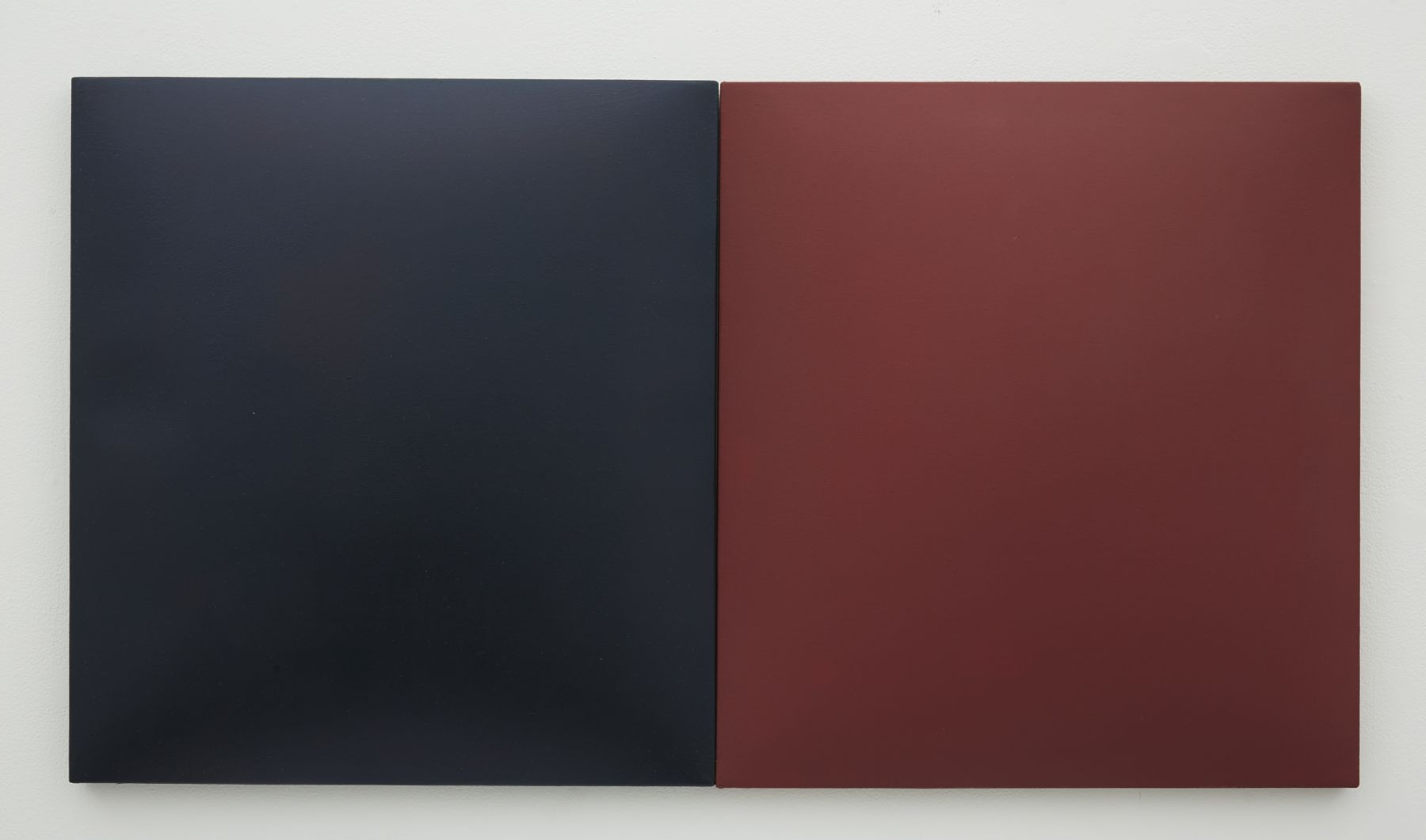 A Conversation Piece (Indigo & Red), 2014, Fiberglass Reinforced Plaster and Oil on Cotton