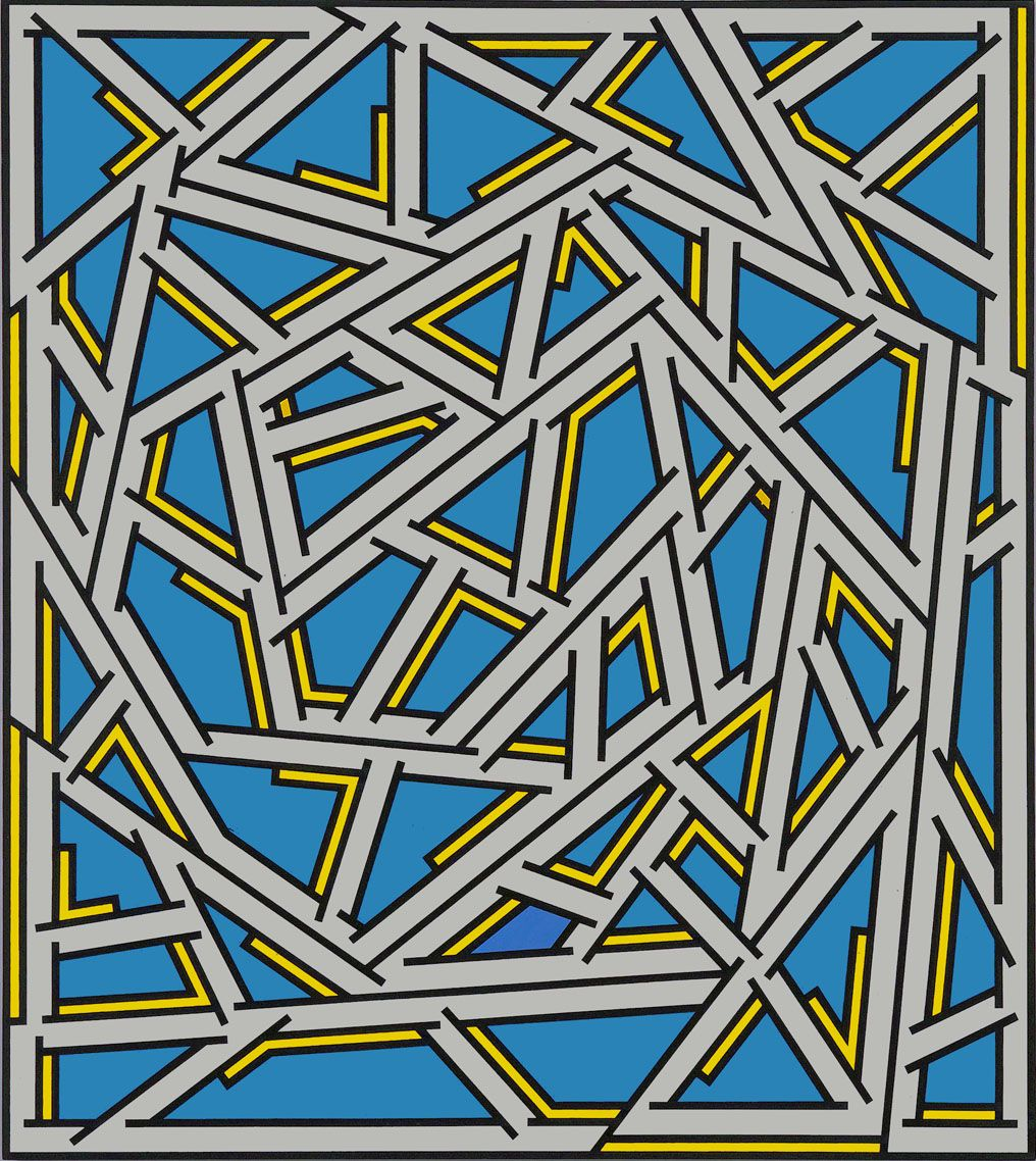 Untitled, 1976, Acrylic on linen