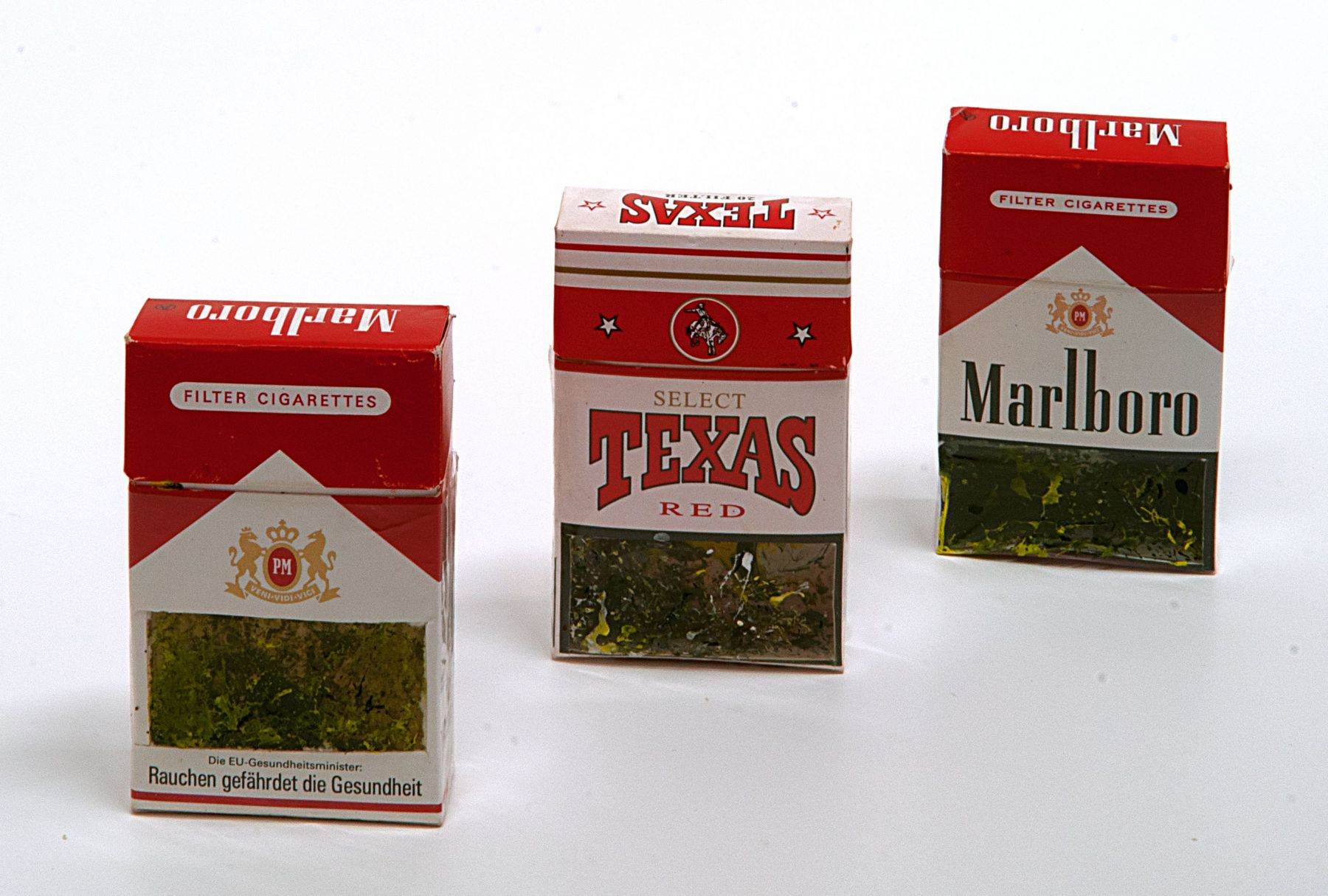 Christian Eisenberger, Untitled, 3 packets of cigarettes, 2008