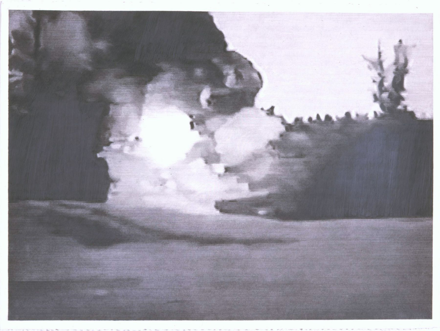 Untitled (Explosion), 2008, Graphite on paper