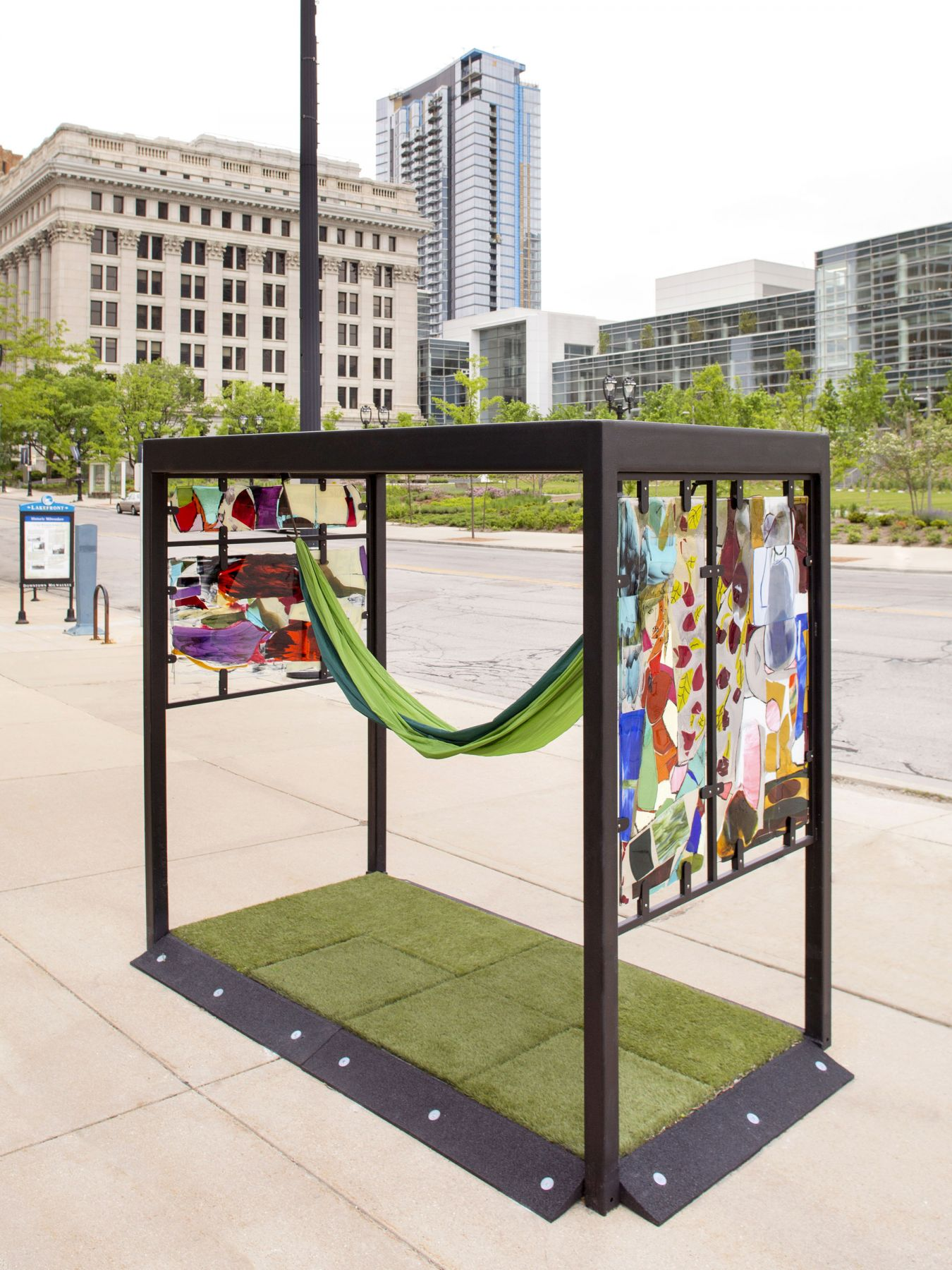 a work of outdoor public art by jessica jackson hutchins